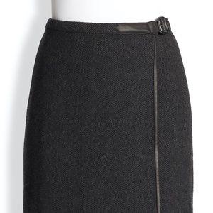 Ralph Lauren Blue Label Wrap Skirt Herringbone EUC